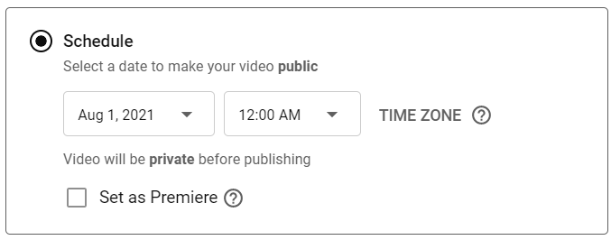 Select schedule and set the time and day (pay attention to AM &PM)