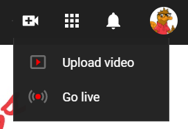 Upload a video option